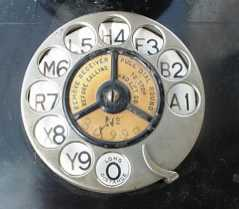 Antique Telephone Rotary Dial